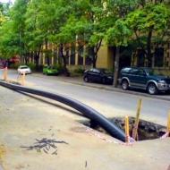 Прокладка водопровода и канализации