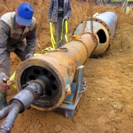 Прокладка газопровода и нефтепровода