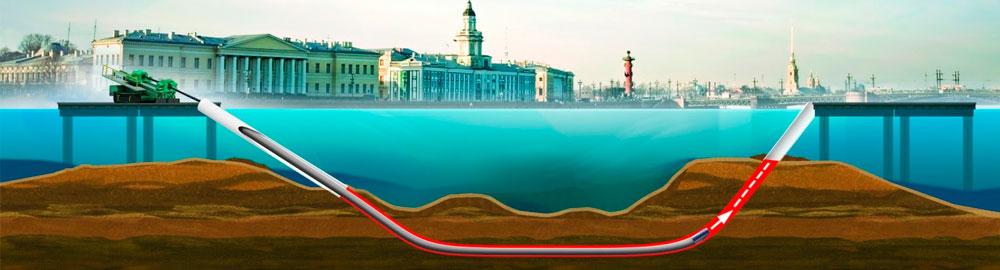Бурение под водой методом ГНБ
